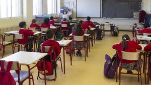 Una clase de alumnos de un colegio.