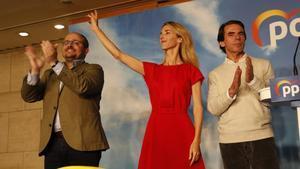 Aznar, en el acto de campaña del PP en Barcelona.