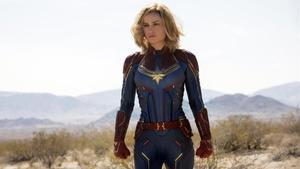Brie Larson, como Capitana Marvel.