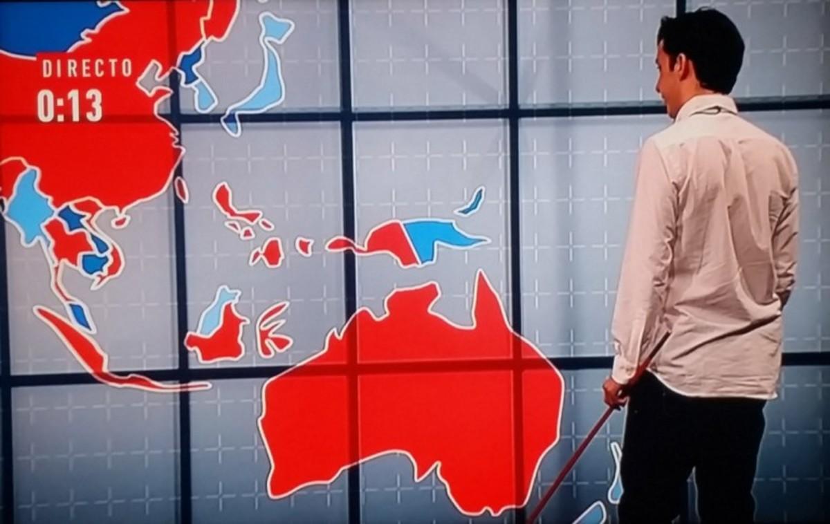 Fran Nicolás tenía delante Australia pero no supo identificarla en el mapa.