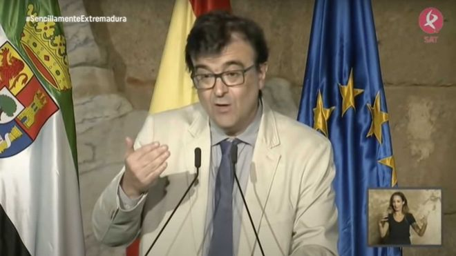 Fragmento del discurso de Javier Cercas en la entrega de las medallas del día de Extremadura de septiembre de 2019