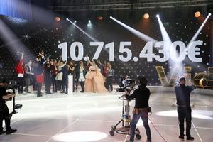 El marcado final de 'La Marató' de TV-3 del 2018.