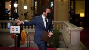 Pere Aragonès, tras la segunda sesión del debate de investidura.