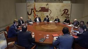 Reunión de la ejecutiva de Govern en el Palau de la Generalitat