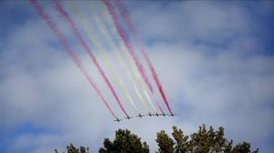 Desfile aéreo durante el 12 de octubre de 2015