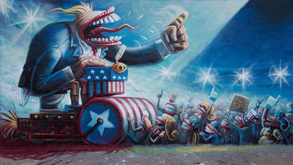 'It's a trap!!!', el mural de Juanjo Surace, tal y como el propio autor lo ha bautizado.