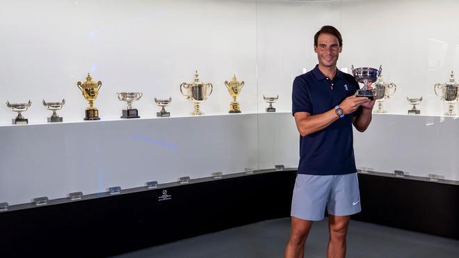 Rafa Nadal añade su trofeo número 20 de Grand Slam al museo de su academia
