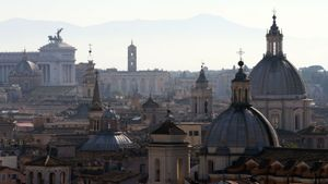 Cúpulas y tejados de Roma.