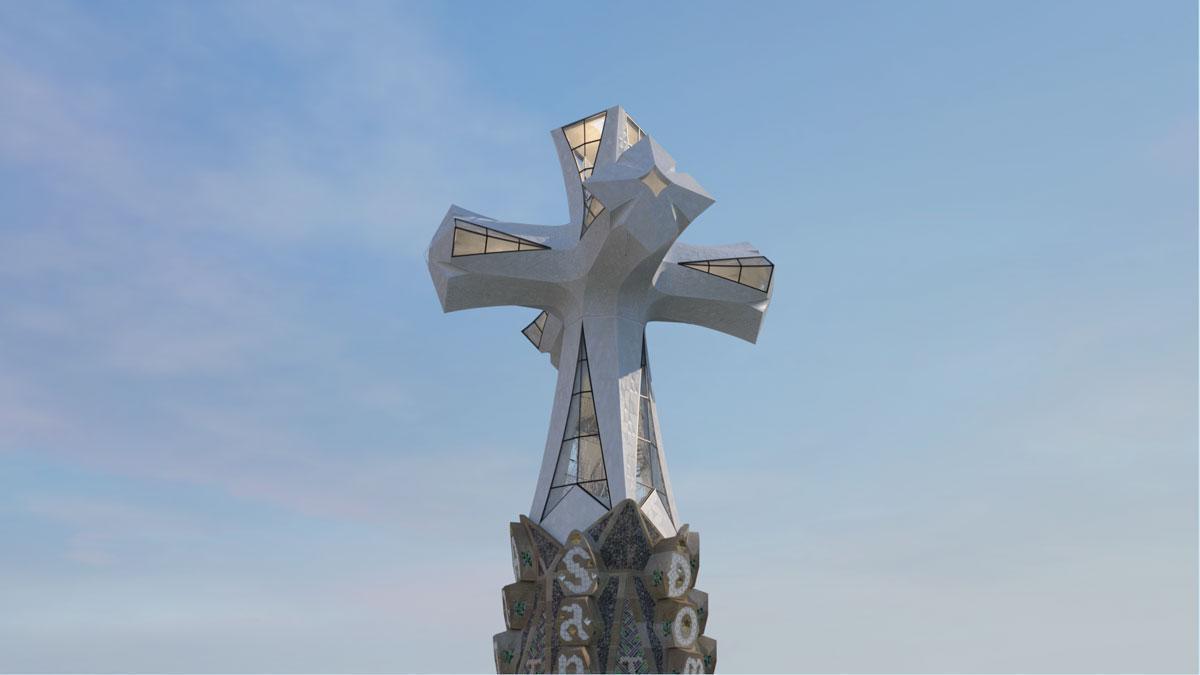 Así será la terminal que coronará la torre de Jesucrist de la Sagrada Família.