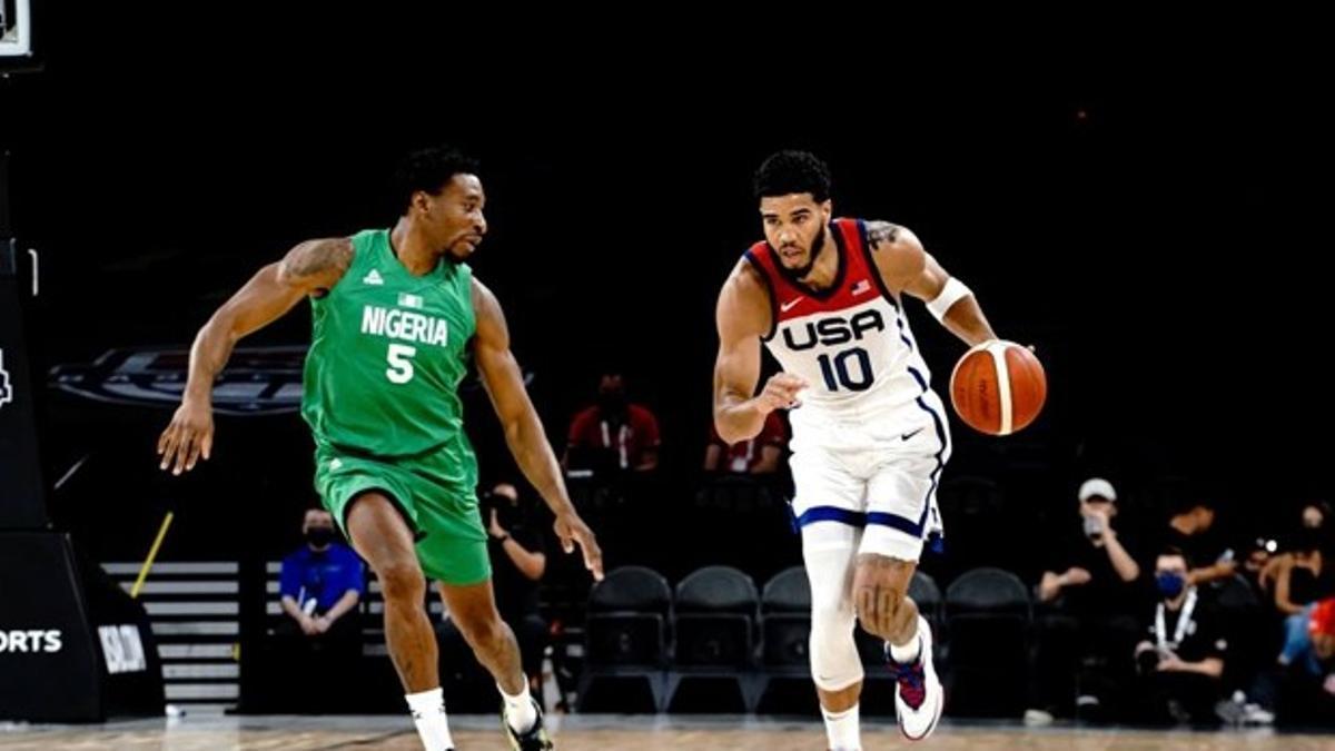 Imagen del amistoso entre EEUU y Nigeria en Las Vegas.