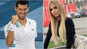 La modelo Natalija Scekic denuncia un complot contra Novak Djokovic.