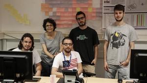 Los responsables del centro de respuesta ante ataques informáticos de la UPC.