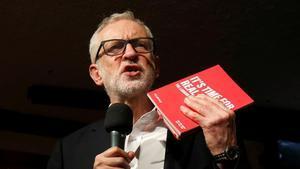 El líder del Partido Laborista, Jeremy Corbyn, durante un acto de campaña este martes.