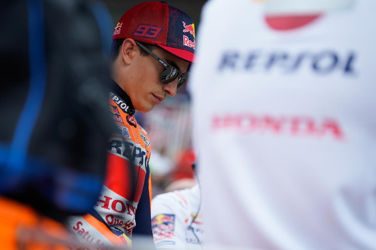 ´Marc Márquez (Honda), en la parrilla del GP de Catalunya.