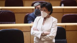 La ministra de Educación, Isabel Celaá, hoy en el Senado