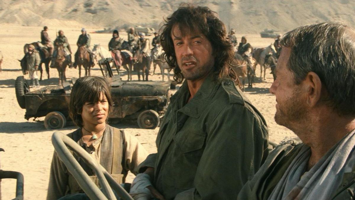 Un fotograma de la película 'Rambo 3'.