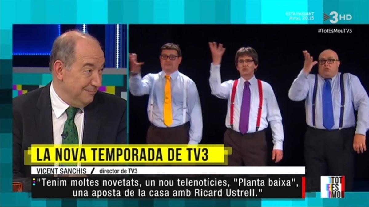 Vicent Sanchis a 'Tot es mou'. (TV3)