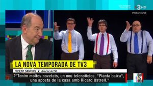 Vicent Sanchis a 'Tot es mou'. (TV3)
