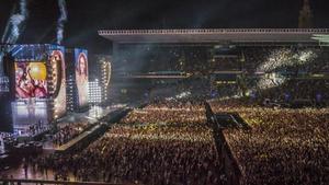 Concierto de Beyoncé en el estadio olímpico de Montjuïc, en el 2016.