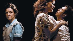 Mireia Aixalà (izquierda), Cristina Genebat y Julio Manrique, en una escena del montaje.