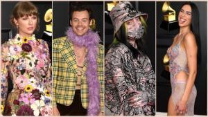 Taylor Swift, Harry Styles, Billi Eilish y Dua Lipa han impactado con sus mejores galas en los premios Grammy 2021.