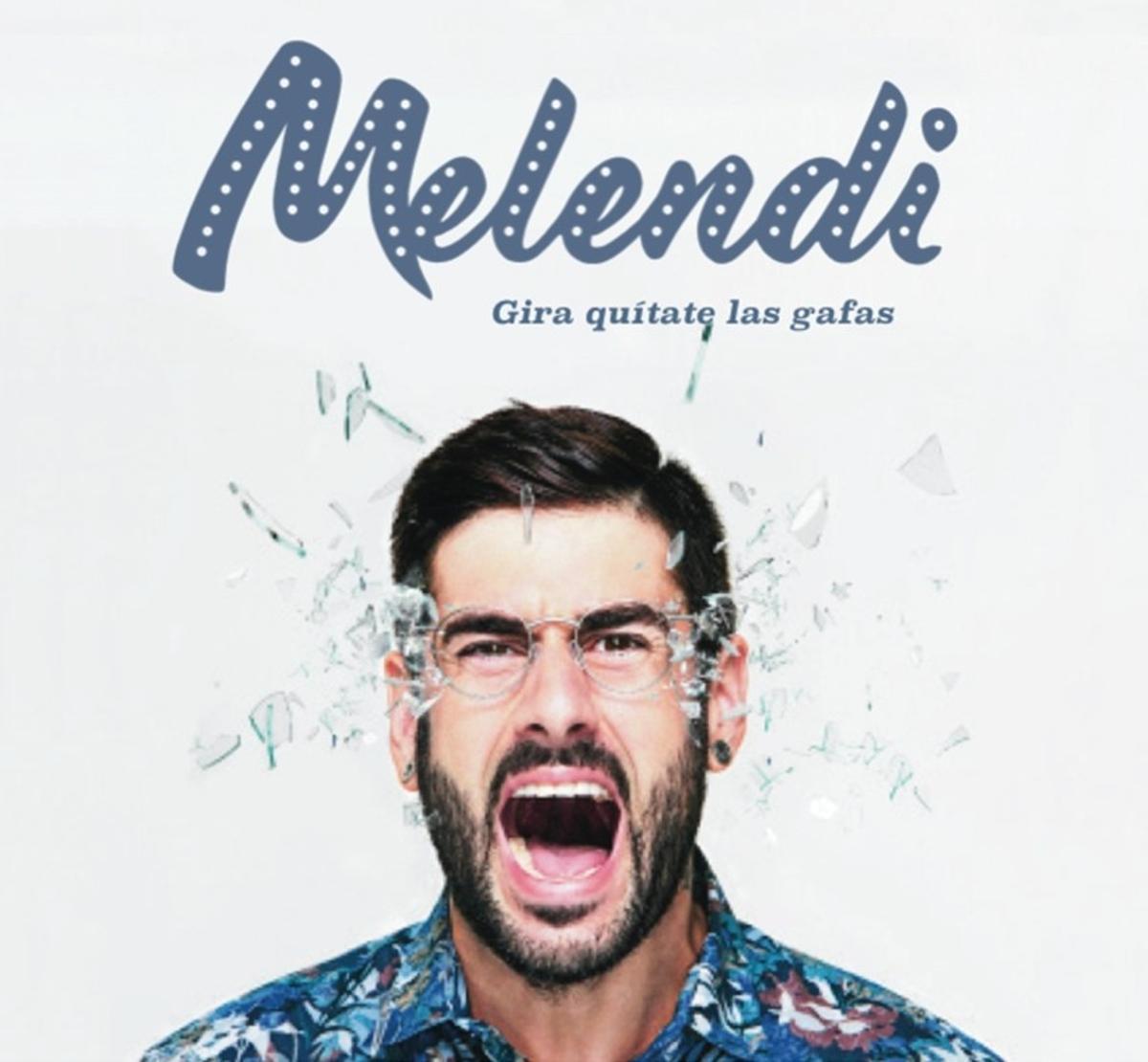 Cartel de la gira del nuevo disco de Melendi, 'Quítate las gafas'.