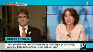 Carles Puigdemont entrevistado en 'Els matins de TV-3'.