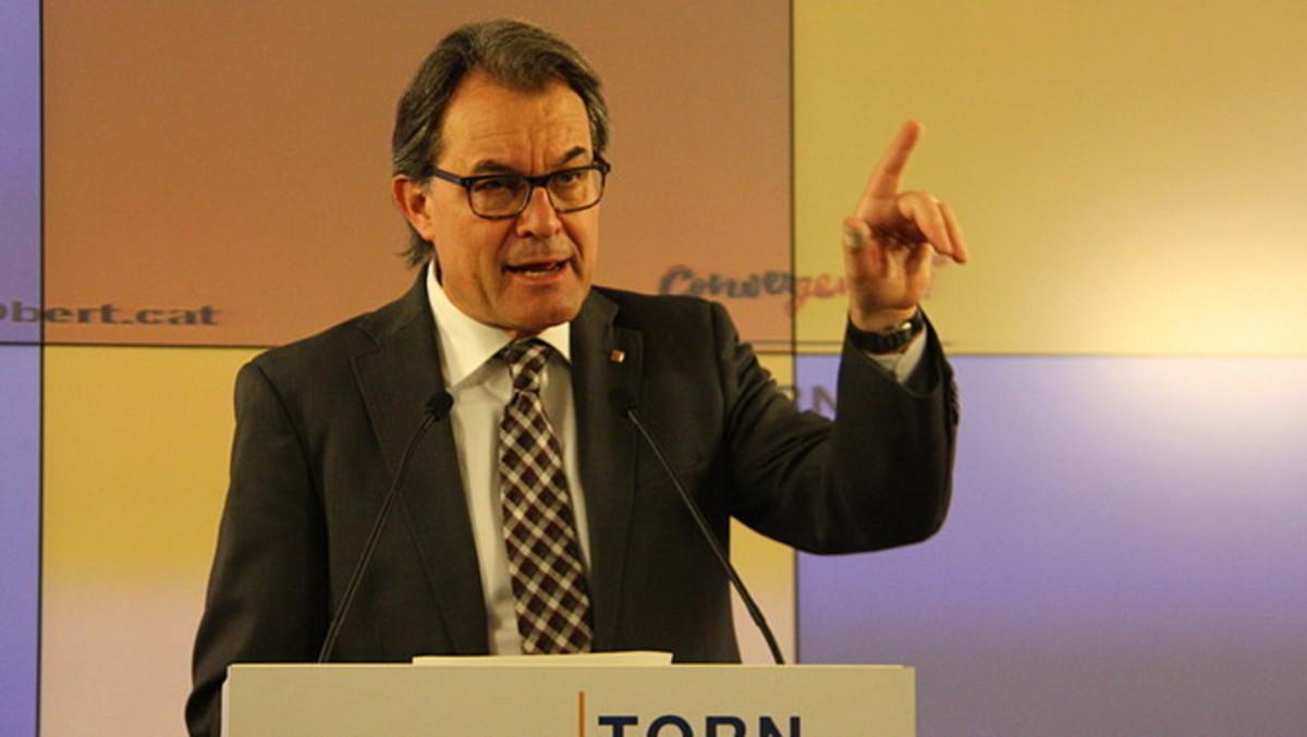 El 'expresident' y líder de CDC, Artur Mas, en una reciente comparecencia en la sede de su partido.
