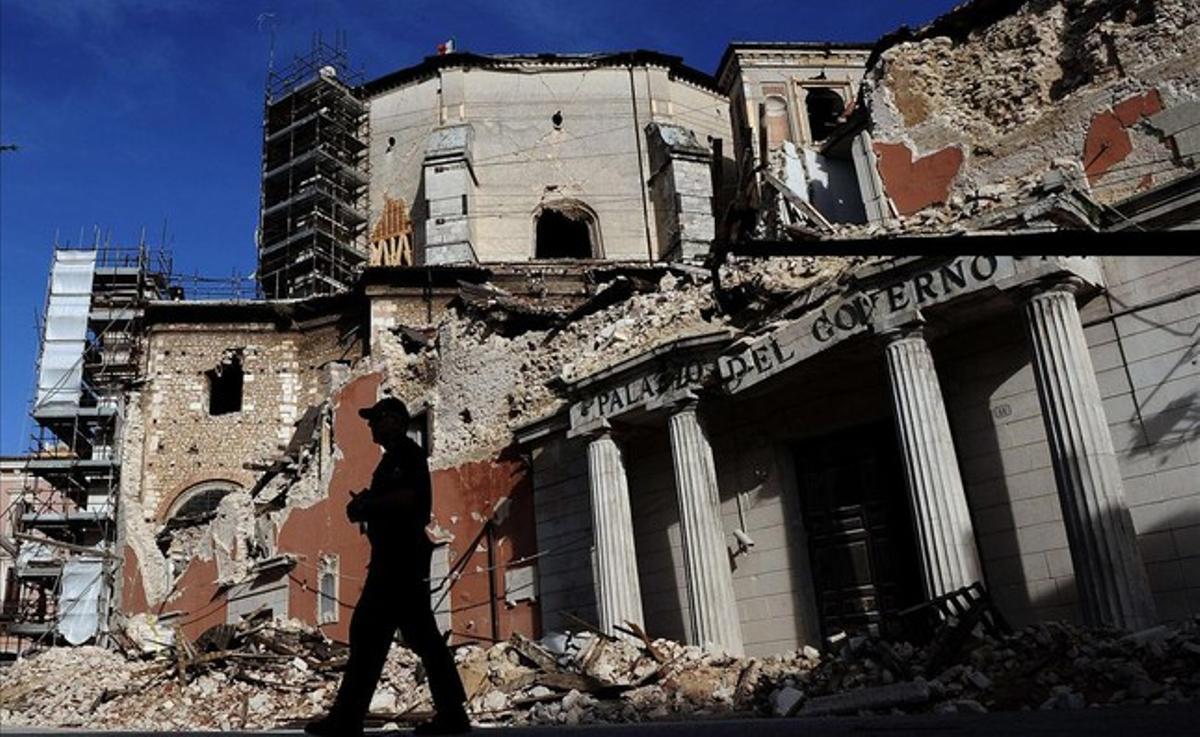 El centro histórico de la ciudad italiana de L'Aquila, tras la gran sacudida del año 2009.