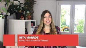 Rita Morros, de la EscolaAbat Marcet,en 'Objectiu 2030', del Super 3.