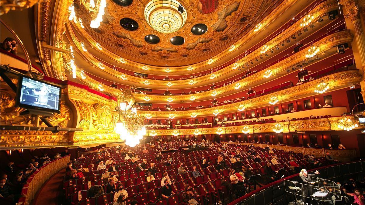 Ensayo de 'La Traviata', en el Liceu, el 24 de noviembre.