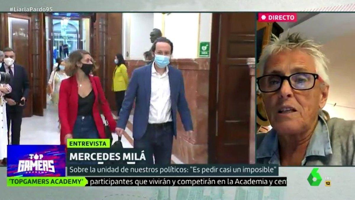 """Mercedes Milá sale en defensa de Iglesias y Sánchez: """"Es de agradecer lo que están consiguiendo"""""""