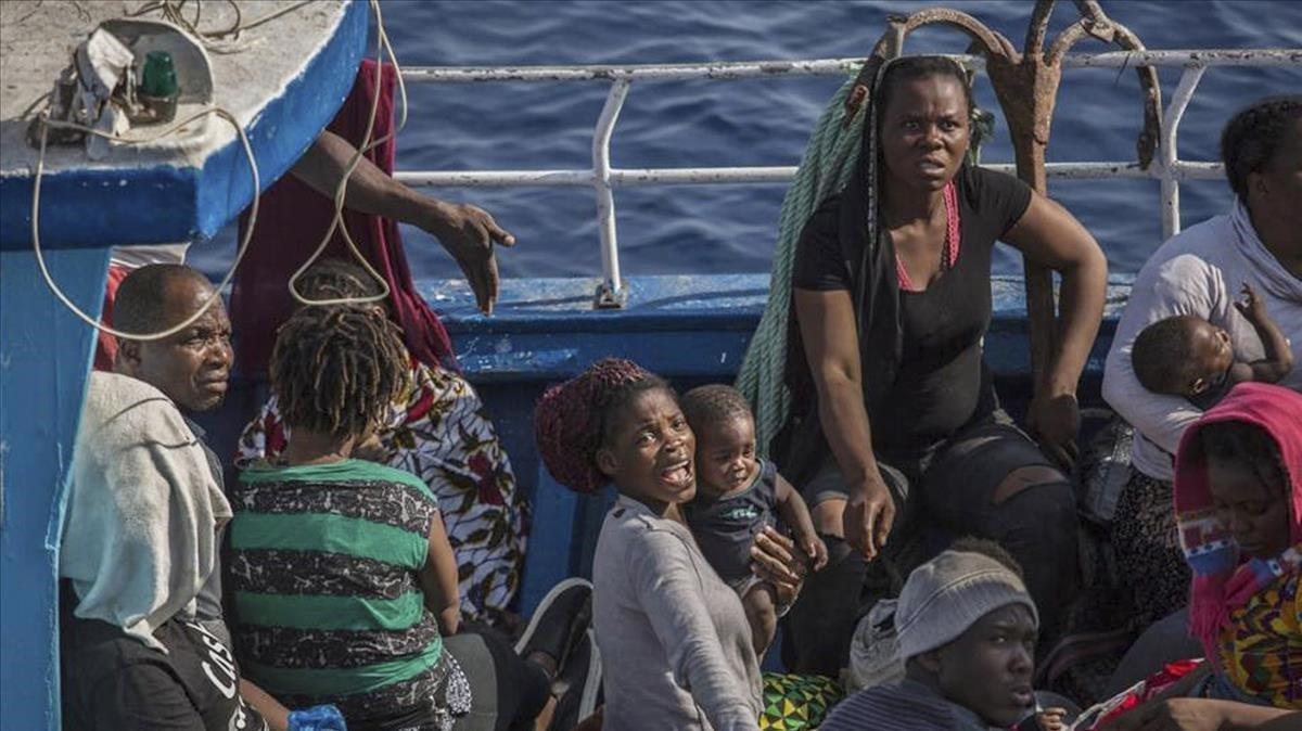 Rescate humanitario por parte del Open Arms el domingo 30 de junio de 2019.
