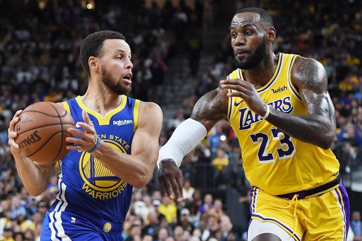 Curry frente a Lebron, ya con los Lakers en la pretemporada, y anuncio del duelo que viene en la NBA