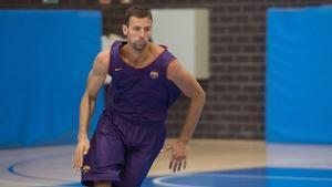 Jordi Trias, en su segunda etapa en el Barça, como jugador del filial en 2016