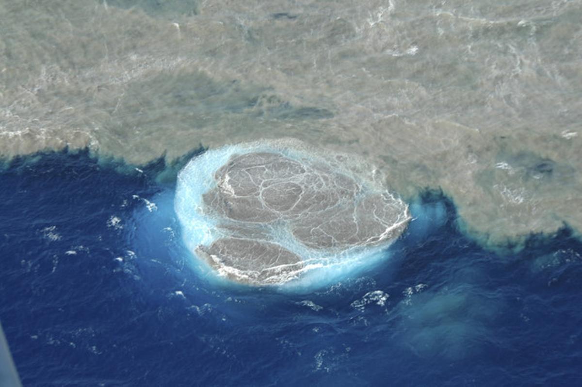 Imagen de la erupción submarina al sur de El Hierro, el pasado mes de noviembre.