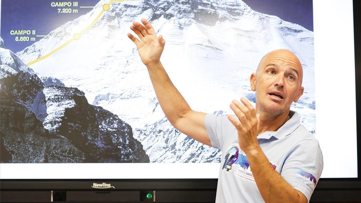 Sergi Mingote, en la presentación del proyecto 14x1000, en el 2019.