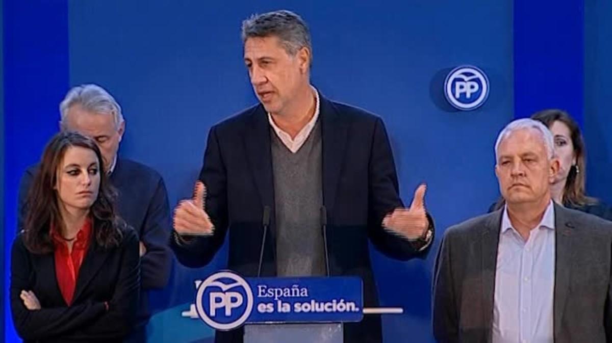 Albiol (PP) acepta que los catalanes se han pronunciado por el independentismo.