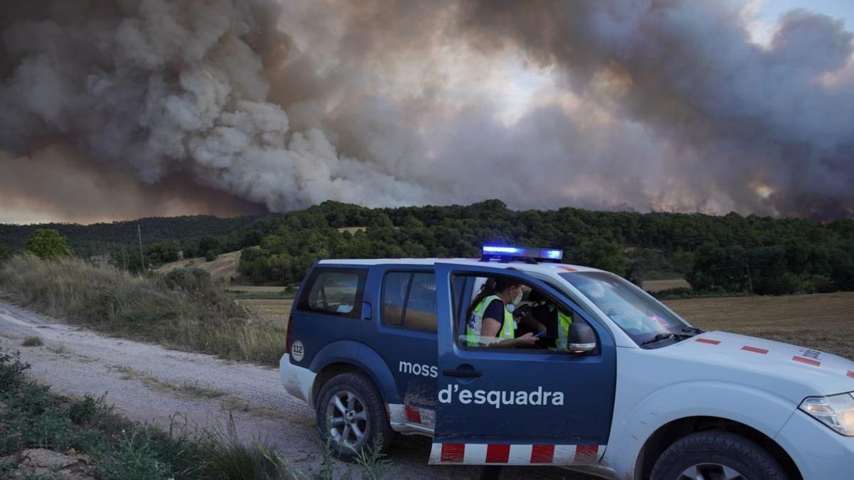 Incendio en la Conca de Barberà y l'Anoia, este sábado