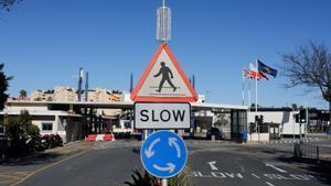 La frontera entre Gibraltar y España.
