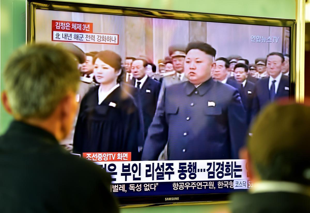 Kim Jong un, en la televisión de Corea del Norte.