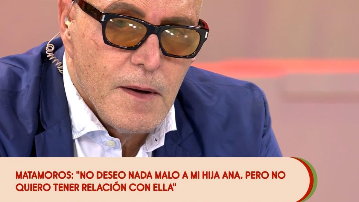 Matamoros abandona entre lágrimas el plató de 'Sálvame' por un comentario sobre su hija Anita