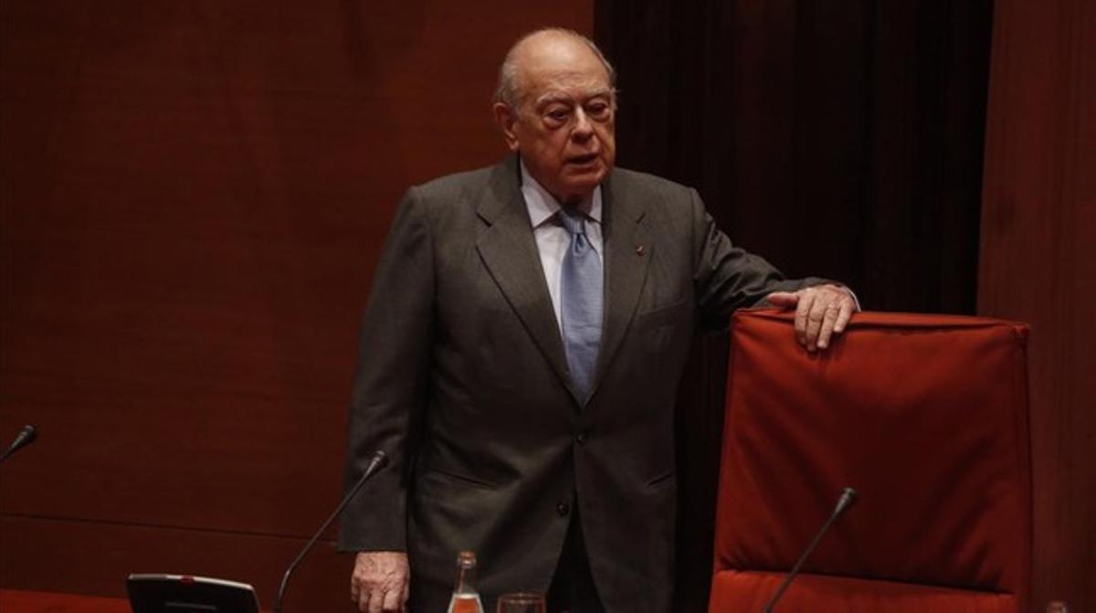 Jordi Pujol, en el Parlament, el pasado 23 de febrero.