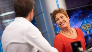 La actriz Verónica Forqué, en una entrevista en 'El hormiguero'.