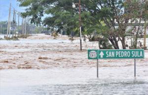 Inundaciones en las calles de Honduras.