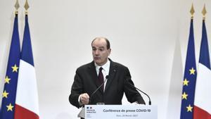 Jean Castex en una rueda de prensa.