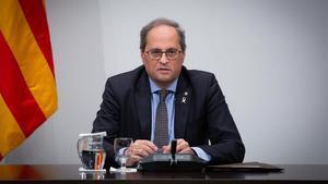 Torra retreu a Asens que neguin l'autodeterminació de Catalunya