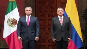 Andrés Manuel López Obrador, presidente de México,con Iván Duque, presidente de Colombia.