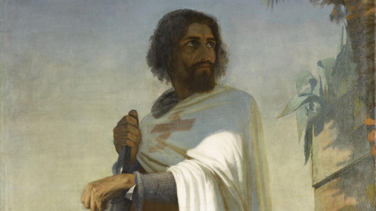 Retrato idealizado de Hugo de Payens, primer Gran Maestre de la Orden del Temple, pintado por Heri Lehmann en el siglo XIX.