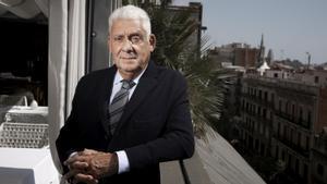 Jordi Clos, en la terraza del Hotel Claris, del que es propietario.